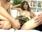 Lovely Japan princess Akimi getting massaged by two horny dudes