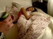 Slender brunette teenie cutie Tijana getting undressed and nailed in bedroom